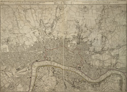 A plan of the cities of London and Westminster with the borough of Southwark on the same scale as the plan of Paris, Rome and Dublin